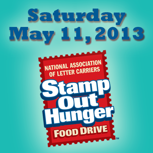 Stamp Out Hunger Food Drive on May 11, 2013